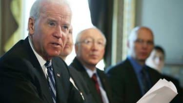 Vice President Joe Biden meets with gun interest groups on Jan. 10.