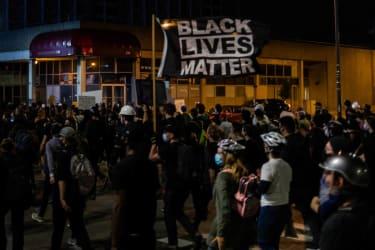 Protesters in Rochester in September.