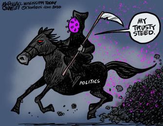 Editorial Cartoon U.S. coronavirus politics