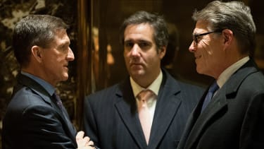 Trump personal counsel Michael Cohen and Michael Flynn in happier days