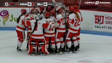 The Boston University women's hockey team.