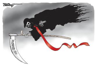 Political Cartoon U.S. Trump kill Obamacare