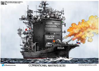 Editorial Cartoon U.S. russia cyberattacks