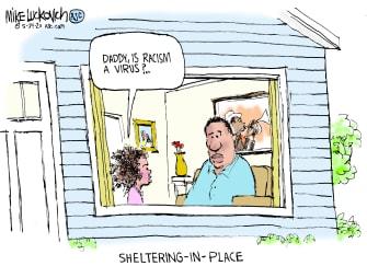 Editorial Cartoon U.S. racism virus George Floyd Minneapolis