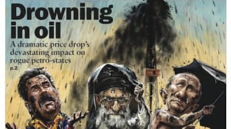 World leaders drown in oil on this week's cover of The Week magazine