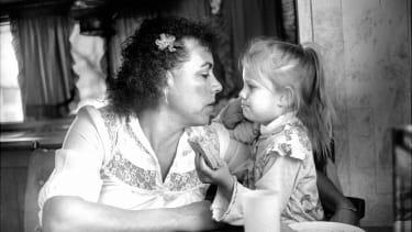 Chrysis, veteran, with partner's daughter.