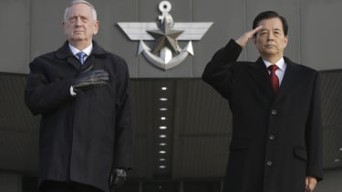 Mattis traveled to South Korea to meet with U.S. allies in the region.