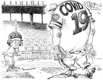 Editorial Cartoon U.S. sports coronavirus baseball
