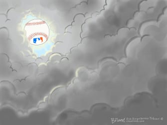 Editorial Cartoon U.S. Baseball return MLB
