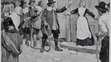 A Puritan woman accused of witchcraft.