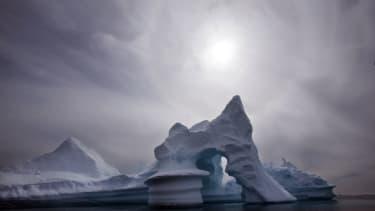 An iceberg is seen off Ammassalik Island in Eastern Greenland.