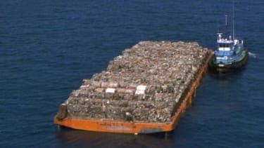 The Mobro 4000's inaugural run contained more than 3 tons of trash.