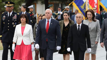 Mike Pence in South Korea.