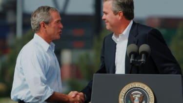 George W. Bush and Jeb Bush