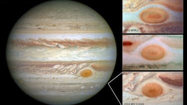 Is Jupiter's Great Red Spot becoming just a red dot?