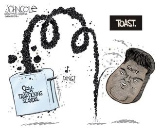 Political Cartoon U.S. gaetz allegations