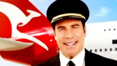 """""""This is your captain speaking,"""" says John Travolta in the opening to his contentious Quantas pre-flight safety video."""