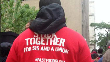 Thousands of fast-food workers are striking in protest of low wages