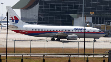 A Malaysia Airlines jet on the tarmac