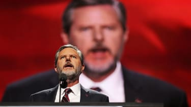 Jerry Fallwell Jr. addresses the Republican National Convention