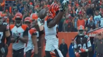 Watch Johnny Manziel get sacked and taunted with his trademark money celebration