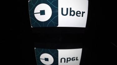 The Uber app logo