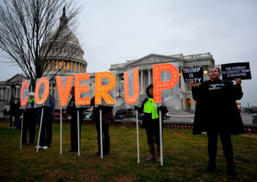 Protesters outside the U.S. Capitol.
