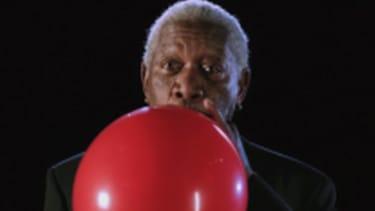 Morgan Freeman sounds strangely pubescent on helium