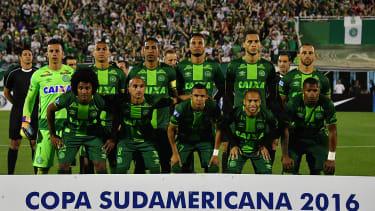 Brazil's Chapecoense players.