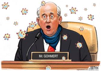 Political Cartoon U.S. Louie Gohmert coronavirus