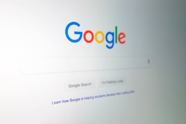 The Google logo is seen on a computer in this photo illustration in Washington, DC, on July 10, 2019.