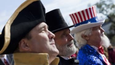 A Texas Tea Party rally: Conservative Republicans and Tea Partiers argue the federal government has exceeded the limits intended by the constitution.