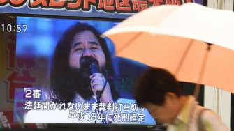 Television coverage of the execution of Shoko Asahara.