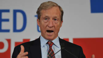 Tom Steyer and his favorite tie.