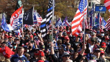 """People participate in the """"Million MAGA March"""""""