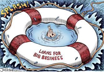 Editorial Cartoon U.S. small business loan relief coronavirus