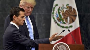 President Trump and Mexican President Enrique Pena Nieto.