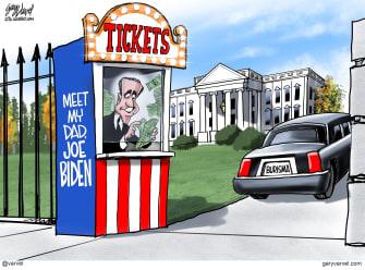 Political Cartoon U.S. Hunter Biden Burisma Ukraine