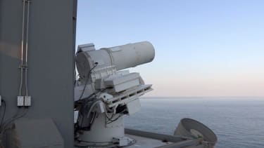 Watch the U.S. Navy field-test its fully operational laser cannon, take out a drone