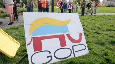 GOP sign.