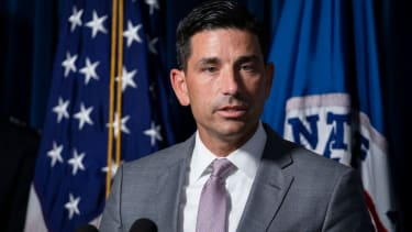 Secretary of Homeland Security Chad Wolf speaks during a press conference on July 21, 2020 in Washington, DC.