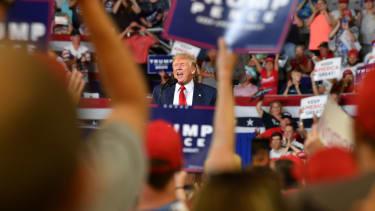 Trump at a rally in North Carolina