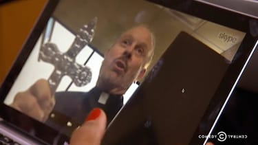 The Daily Show discovers exorcism-by-Skype