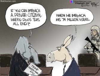 Political Cartoon U.S. trump impeachment gop democrats