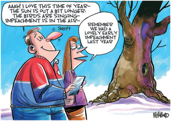 Editorial Cartoon U.S. Trump impeachment