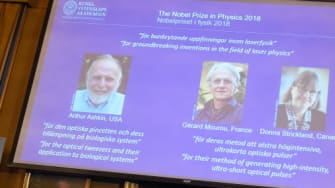 2018 Nobel Prize in Physics handed out