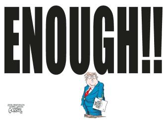 Political Cartoon U.S. Trump election loss