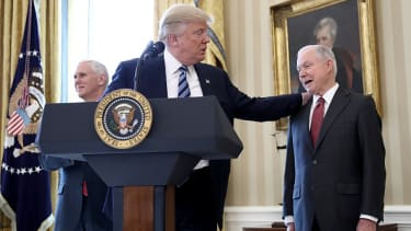 Donald Trump and Jeff Sessions.