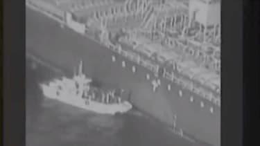 Iranian patrol boat in Gulf of Oman