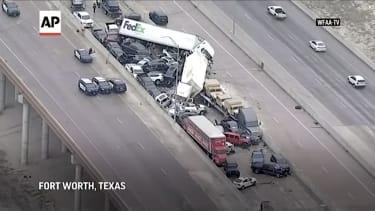 133-car pileup in Texas